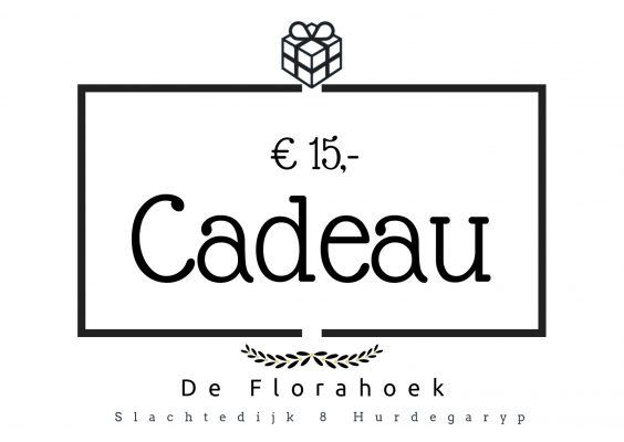 Cadeaubon – 15 euro