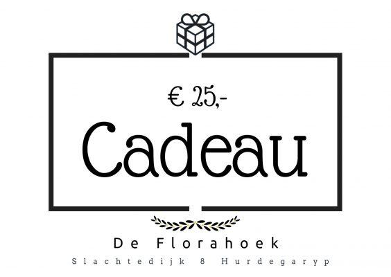 Cadeaubon – 25 euro