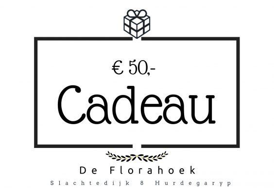 Cadeaubon – 50 euro
