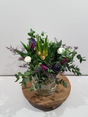 Boeket voorjaar paars