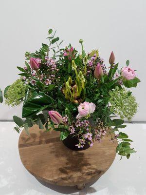 Boeket voorjaar roze