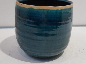 Pot Iris turquoise D15 H14