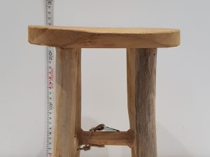 STOOL TEAK NATURAL D20H27CM