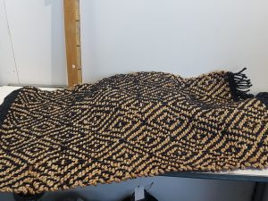 Vloerkleed Roel zwart 90x60
