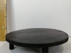 PLATE WITH 4 LEGS TEAK BLACK D40H9CM