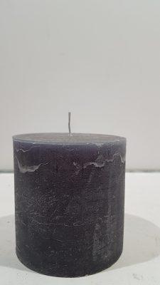 10x10cm stompkaars dark grey