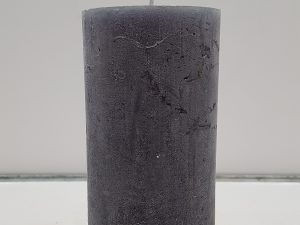 7x15cm stompkaars dark grey
