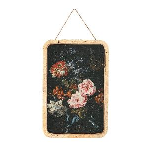 Aila Black paper painting with flower bouquet