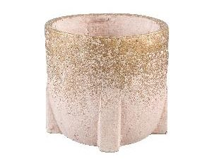 Amira Pink cement pot square base round L