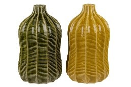Bottle ceramic Ø17x35.5cm 1pc mix box A/2