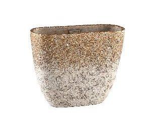 Jae Gold cement rough pot oval M