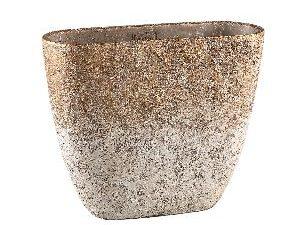 Jae Gold cement rough pot oval XL