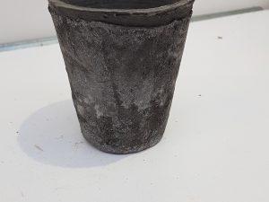 Aged terra grijs pot rond S 1