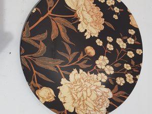 Becky decoratie bord zwart - d33cm
