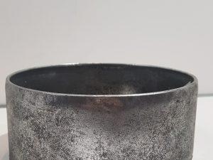 Bowl Grunge Rnd d122H10,5 zilver