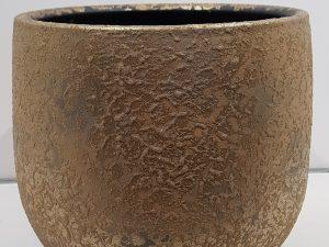 Clemente pot rond goud - h31xd38cm