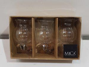 Clip vaas glas 3 stuks - h6xd4cm