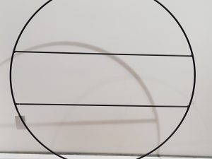 Decoratie cirkel zwart - l55xb9xh57cm