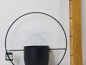 Dexter muurhanger pot zwart - l34xb14xh34cm