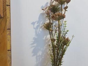 Dried-look korenbloem bruin - l51xd5cm