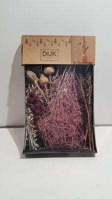 dried flowers mix tray 38x26x5cmpink