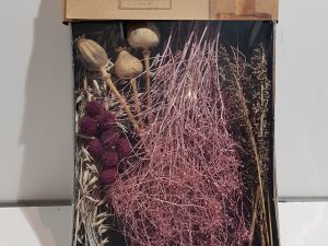 Dried flowers mix tray 38x26x5cmPink