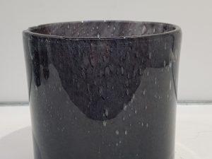 Estelle vaas cilinder glas d.blauw - h18,5xd17cm