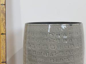 Floyd pot rond grijs - h17xd19cm