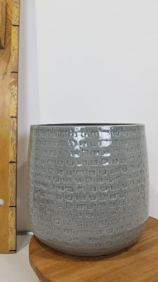 floyd pot rond grijs – h21xd24cm