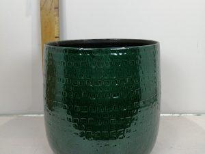 Floyd pot rond groen - h30xd32cm