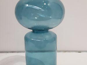 Frey vaas blauw - h35xd14,5cm