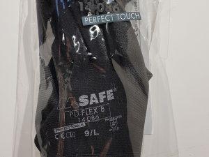 Handschoen PU flex zwart mt 9