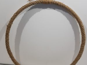 Hang. Ring Fiber Twine d60.0h3.0Natural