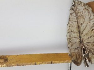 Plate Leaf Philodendron L41.0w27.5h2.5 Silver/gold