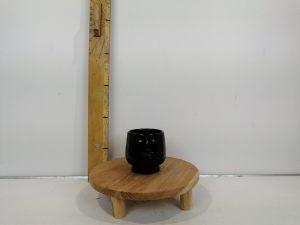 Pot hoofd wit zwart 2 assorti - l12xb11xh11cm
