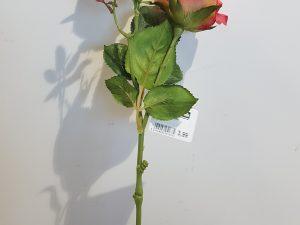 Roos x2 l38cm zalm