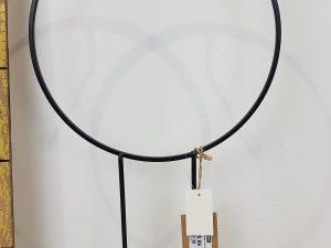 Stand. Wreath Hanger W26.0h47.0Zwart