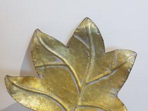 Tray Fig Leaf L29.0w26.5h5.5Goud