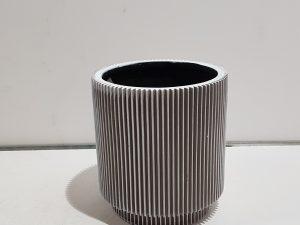Vaas cylinder Groove 17x15 ivoor