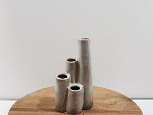 Vase ceramic 12x8.6x21.5cmCream