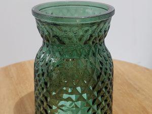 Vase Sack Diamond D7.5h10.5Groen