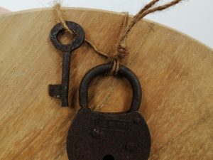 Vintage iron lock home used 4x7x2cm assorted