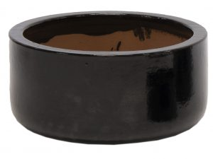 Glazed Bowl Shiny Black D21H10