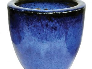 Glazed Egg Pot Blue D30H26