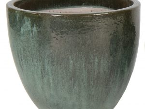 Glazed Egg Pot Moss Green D22H21
