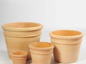 Planter clay 43x43x34