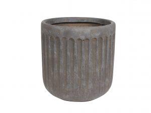 Pot Duncan taupe D28 H29