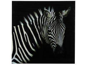 Schilderij zebra vk Wild life L zwart/wit