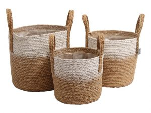 Basket seagrass natural/white