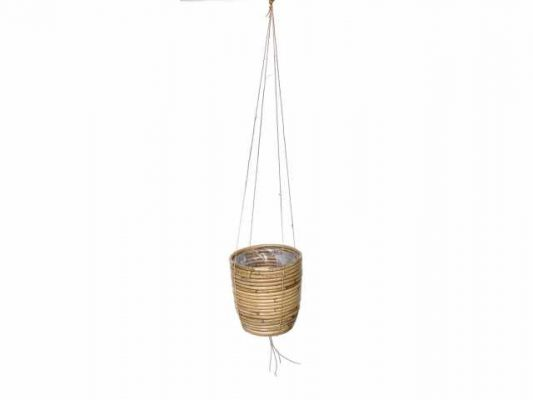 hanging pot stripe grey d20h19cm
